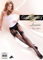 Sheer Mock Suspender Tights with Spots